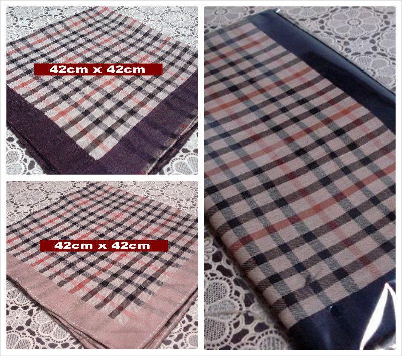 6 pieces / half dozen large size 42cm x 42cm checks pattern 100% cotton handkerchiefs ( QS )(China (Mainland))