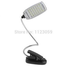 Flexible USB/Battery 28 LED Clip-on Reading Desk Table Lamp Light - Black(China (Mainland))