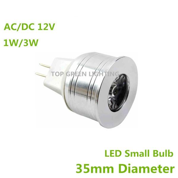 10PCS LED Bulb Small MR11 LED 35mm Mini LED Light Bulb MR16 GU4 Bombilla Lampadas LED 12V MR11 1W 3W Spot Lamp Diameter 35mm(China (Mainland))