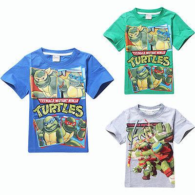 New Teenage Mutant Ninja Turtles Boys Fun Tops Kids T-shirt Costume clothes 3-8Y(China (Mainland))