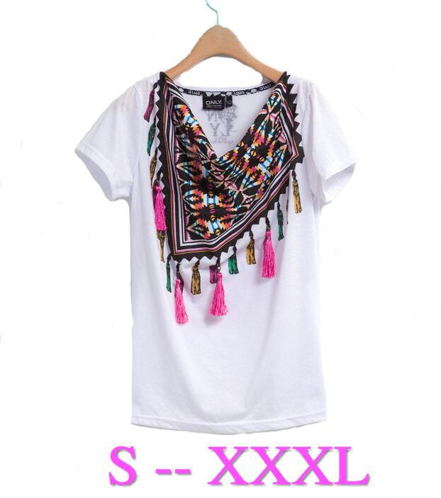 Женская футболка Brand new 2015 T Plus XXXL Roupas женская футболка brand new 2015 tshirt roupas femininas