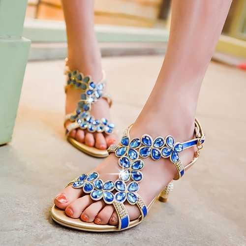 Zapatos Mujer 2015 Fashion Pop Glitter Big Rhinestone Peep Toe Summer Shoes Sexy Thin High Heels Sandals Laies Shoes(China (Mainland))
