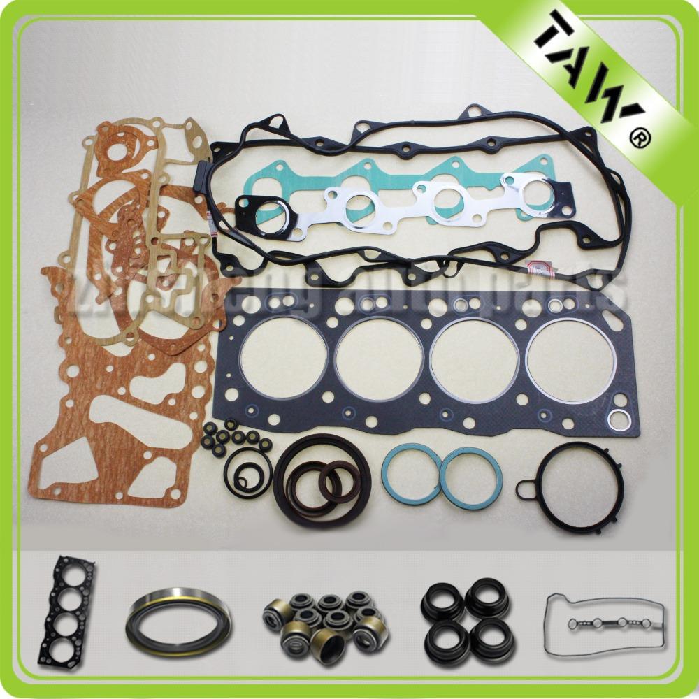 Alta qualidade TOYOTA peças de motor junta completa Metal 04111-54160 2L motor(China (Mainland))