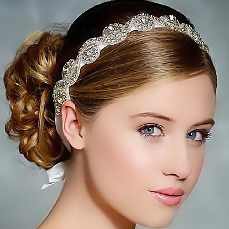 The Bride Korean Fashion Crystal Set Auger Hair Band Silver Headdress Elegant Wedding Accessories For Women