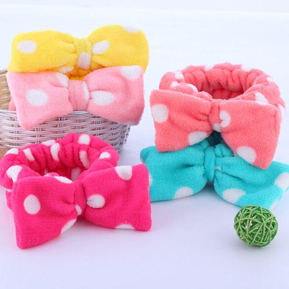 Min. Order is 15 USD! You Can Mixed Order Dot bow headband 1635 wave wash with coral fleece headband(China (Mainland))