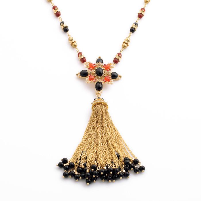 European and American fashion women jewelry industry elegant luxury jewelry factory direct wholesale gem sweater chain tassel wo(China (Mainland))