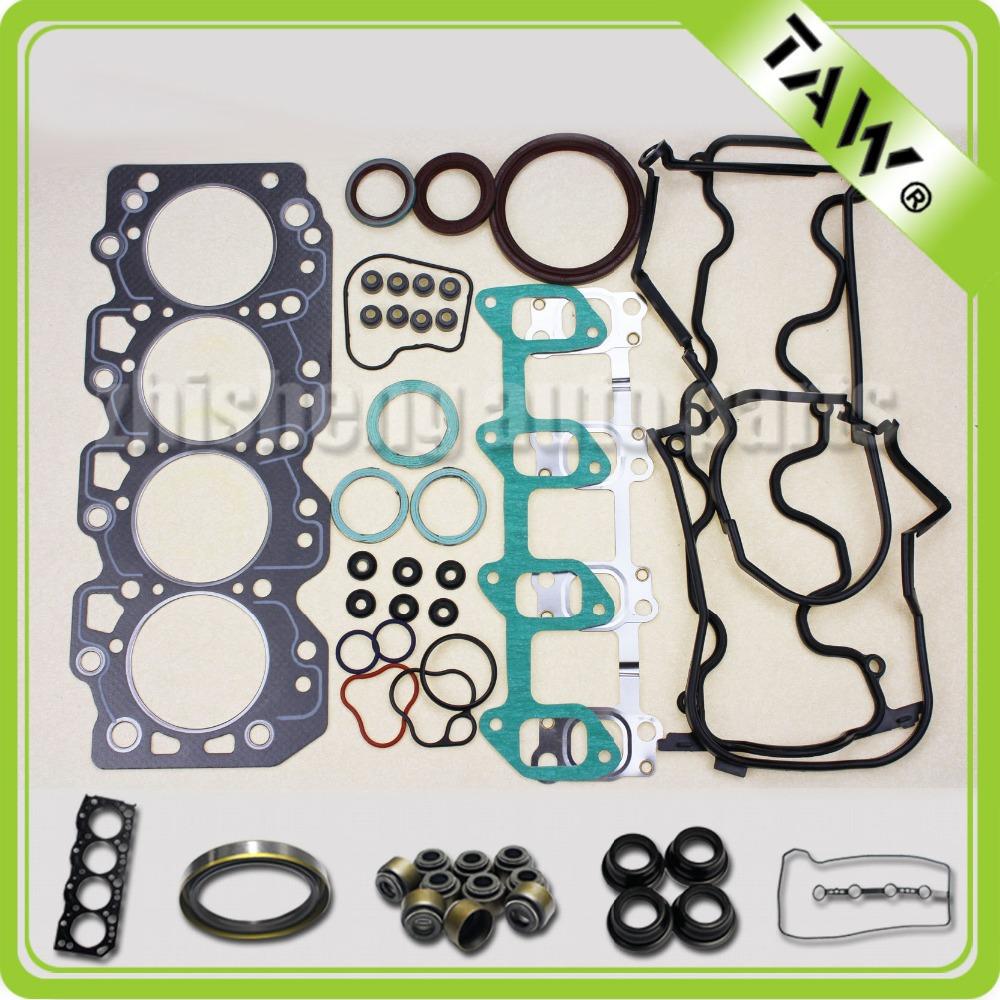 Junta as peças do motor full set completo junta da cabeça do cilindro TOYOTA 2C 04111-64120 motor(China (Mainland))