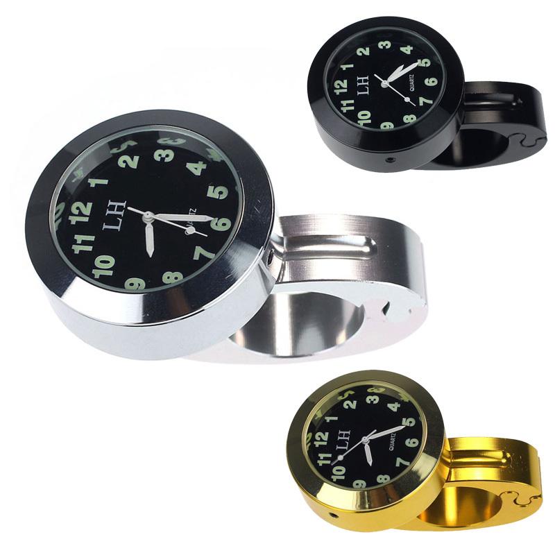 2015 Newest Waterproof Black Silver Gold Watch Aluminum Clock Handlebar Motorcycle Accessory LR626 Quartz Watches Free Shipping(China (Mainland))