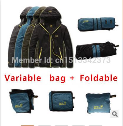 Men's Windproof & Waterproof thin hooded Windbreaker,Outwear Sportswear Camping & Hiking jacket,Casual coat sport Softshell suit(China (Mainland))