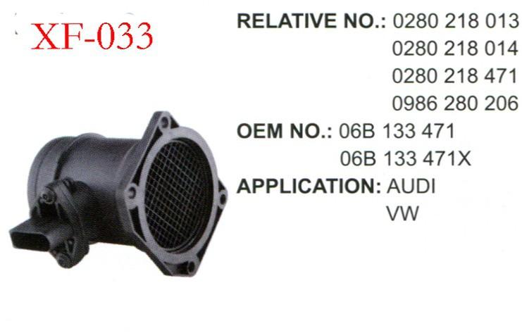 XF_air mass flowmeter Auto parts mass air flow sensor meter for AUDI / VW 0280 218 013/0280 218 014 / 06B 133 471 06B 133 471X(China (Mainland))