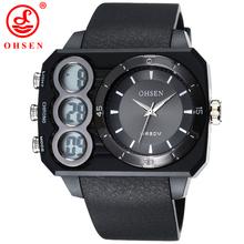 Ohsen marca Relojes deportivos para hombres moda llevó el reloj Digital Relogio Masculino Relojes de cuarzo ocasional del ejército militar hombres reloj