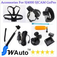 Accessories For SJ4000 SJCAM Go-Pro ,sj4000 accessories,S4000 battery,monopod sj4000,sj4000 charger,car mount,head band,