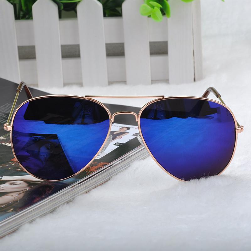 Fashion Goggle Aviator Sunglasses Classic Vintage Sun Glasses Metal Frame Eyeglasses Eyewear Bat Mirror UV Protection FYMHM041Y5(China (Mainland))