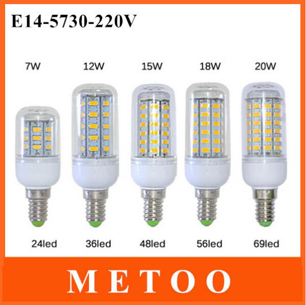 Светодиодная лампа OEM 1 E14 7W/12 /15W/18W/20W /led SMD 5730 220V