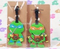 Lovely  Teenage Mutant Ninja Turtles  PVC luggage tags/ Travel Name Tag/ Bag decoration