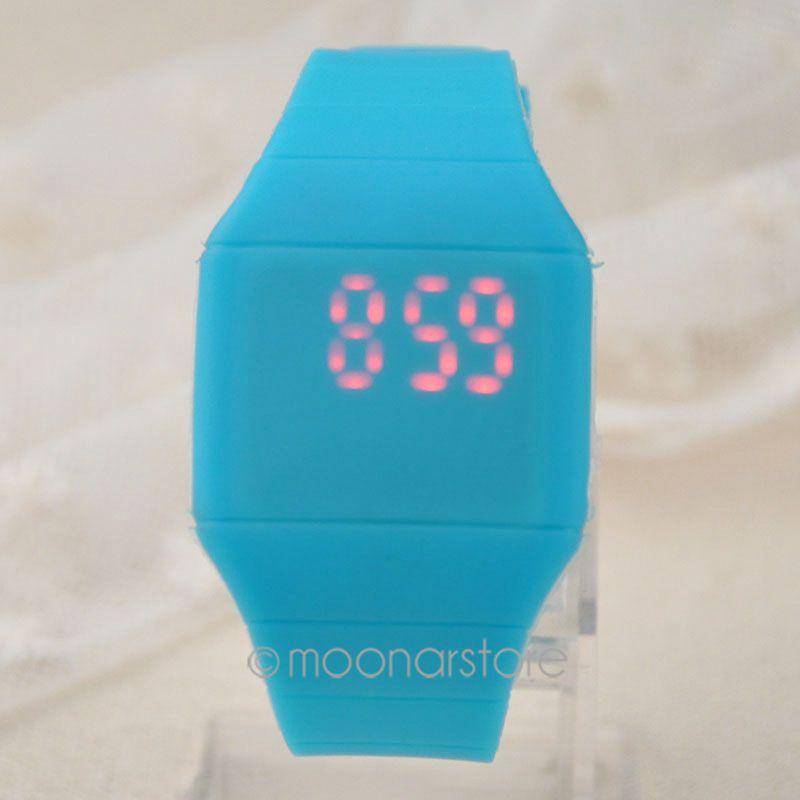 2015 Men/Women Digital Ultra-thin touch screen watch LED Sports Silicone Bracelet watch Waterproof Wrist Watch xMHM10#s1(China (Mainland))