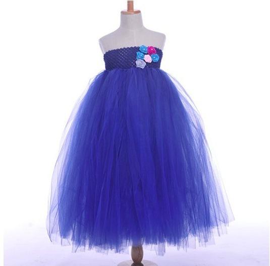 Summer 2015 girls clothes dresses girls tutu dress blue baby dress princess vestido azul 4 patterns vetement enfants girl robe(China (Mainland))