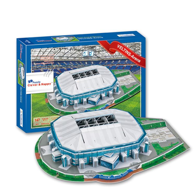 3D Football Puzzle Model Gelsenkirchen-schalke 04 Veltins-arena 3d Puzzle Stadium Model Fc Football Club Home(China (Mainland))