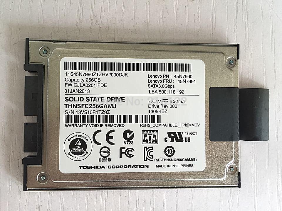 "1.8"" THNSFC256GAMJ 256GB SSD Internal Lenovo 45N7990 45N7991 Solid State Drive t400s t410s x301 x300(China (Mainland))"