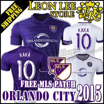 MLS jersey 2015 New Orlando City Home away soccer jersey purple white Orlando football shirt KAKA 10 SHEA COLLIN Free MLS patch(China (Mainland))