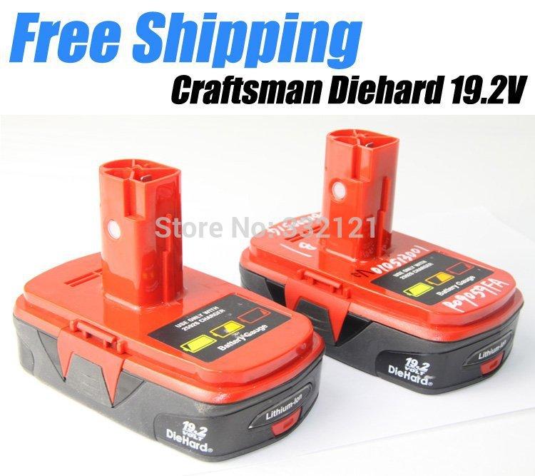 2 x Rechargeable Craftsman Diehard 19.2V Lithium-Ion Tool Battery Akku Free Shipping(China (Mainland))