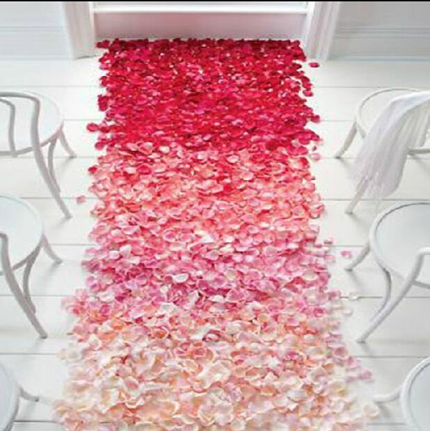 Artificial Silk Rose Petals Flowers Petalas Wedding Supplies Favor Party Decoration Carpet Weddings Accessories 1000pcs(China (Mainland))