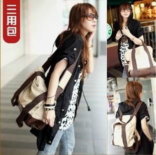 Korean version of the multi-purpose sports bag large canvas shoulder messenger bag hand bag student shoulder bag men an(China (Mainland))