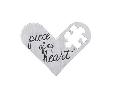 Newest 28*24mm Stainless Steel Large Silver Heart Plate without removable puzzle piece fit 30mm Floating Charm Locket 20Pcs/Lot(China (Mainland))