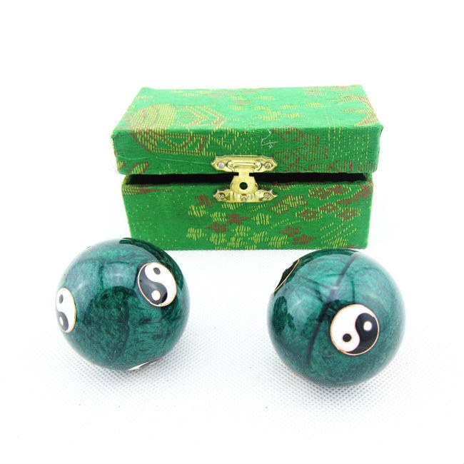 Free Shipping Cloisonne Baoding Power Ball Trainer Powerball Gyroscope Bosu Hand Wrist Balls Exercise Fitness(China (Mainland))