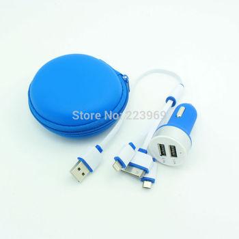 Бесплатная доставка горячий продавать 2 в 1 usb зарядное устройство высокое качество usb автомобильное зарядное устройство 2 в 1 для мобильного телефона