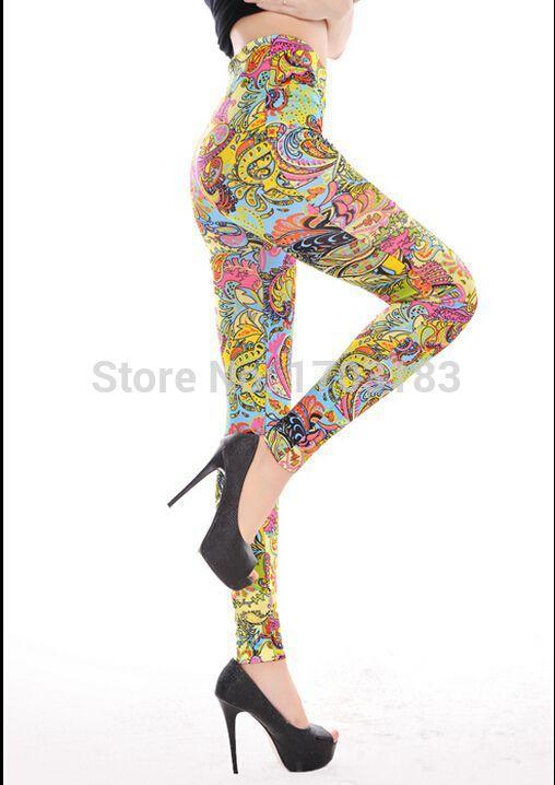 Colorful Print Leggings Color Printed Leggings