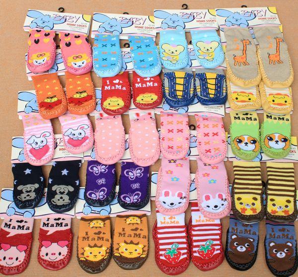 Cotton Baby Anti Slip Socks Cartoon Animal Baby Socks Baby Boy and Girl Socks Wear(China (Mainland))