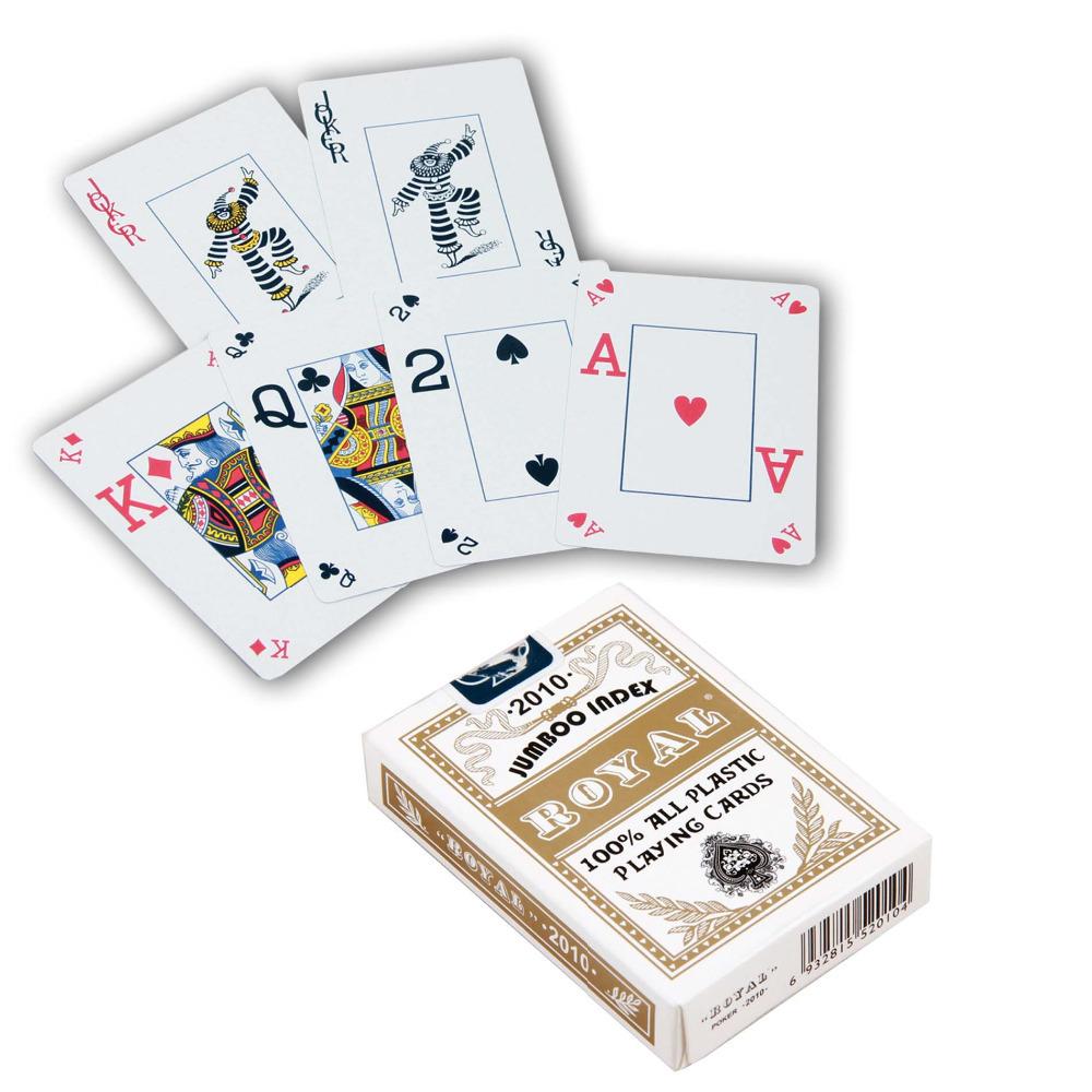 ROYAL 100% Plastic Playing Cards Poker Card Gold(China (Mainland))