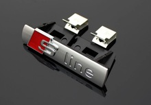 1 pcs S LINE Metal 3D Car Front Hood Grill Badge Grille Emblem Logo Race for Audi A1 A3 A4 A5 A6 A7 A8 Q3 Q5 Q7 TT free shipping