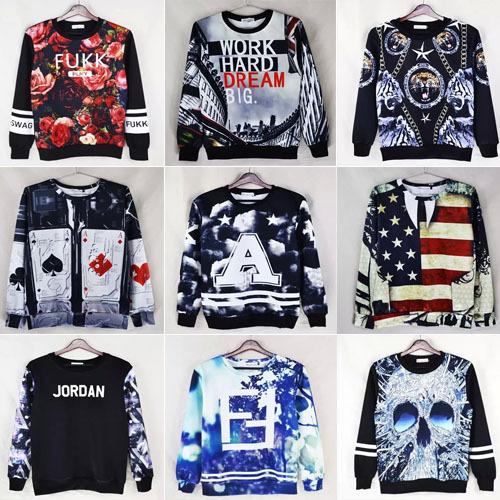 New 2015 3d hoodies hip hop fukk/jordan print sweatshirt fashion moleton masculino tracksuits sudaderas hombre hoodie(China (Mainland))