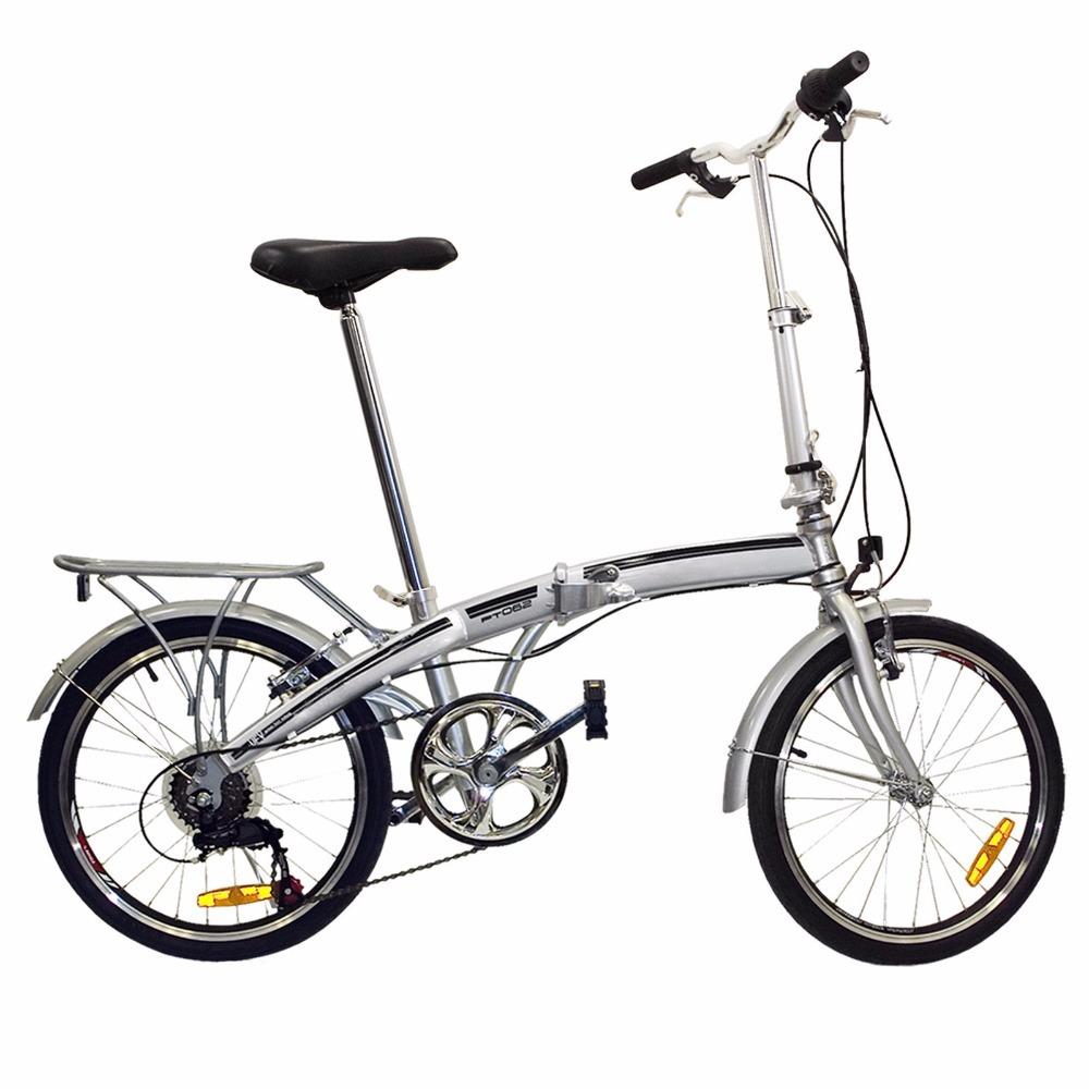 "2015 New Hot 20"" Folding Bike 6 Speed Bike Fold Storage Silver College School Sports Travel Bicycle(China (Mainland))"