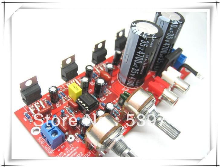 2 pçs/lote 2.1 hifi TDA2030A + NE5532 pré amplificador três canais placa amplificador subwoofer kit(China (Mainland))