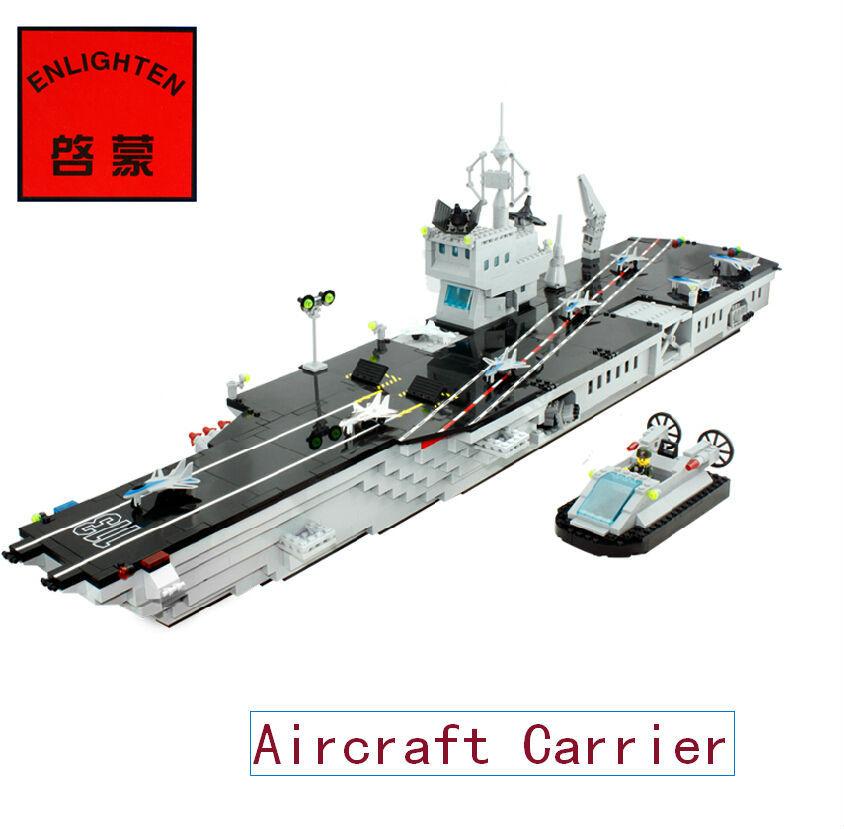 Enlighten 113 DIY 990pcs Assembling toys Super Military aircraft carrier Model building blocks sets eductional children toys(China (Mainland))