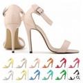 Unique Design!2014 T-stage Catwalk Show Belt Thick Heel High-heeled
