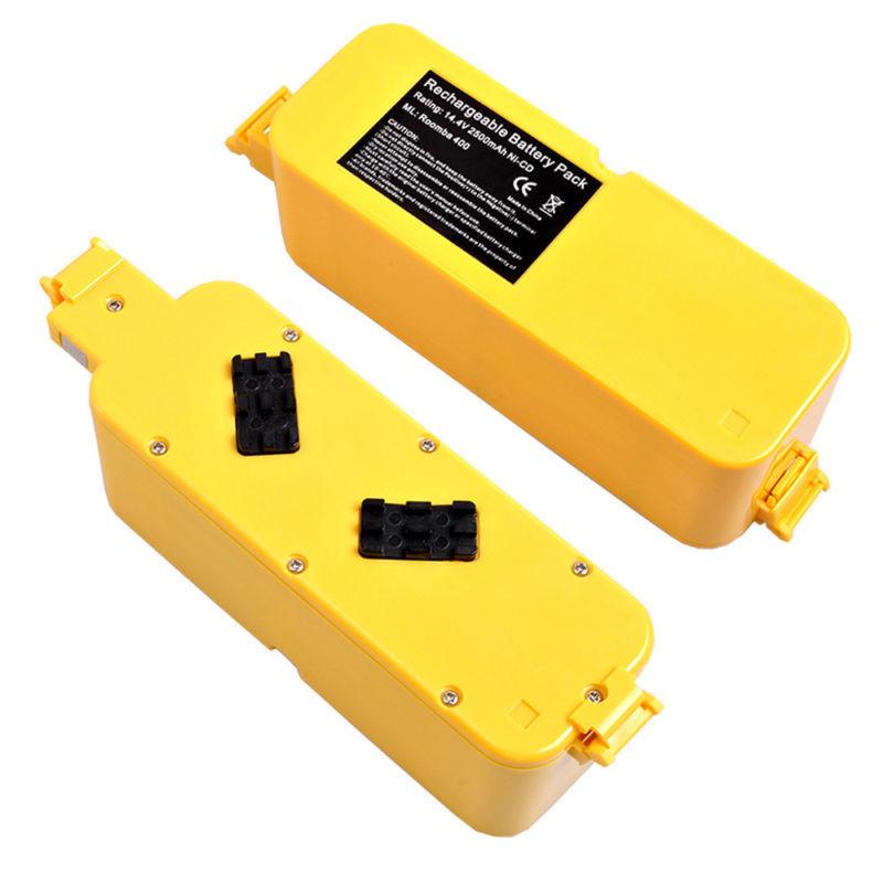 2pieces/lot Hot sale 14.4V 2500MAH Ni-CD Battery Pack for iRobot Roomba 400 405 410 415(China (Mainland))