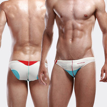 Mens Swimwear Sexy Brief Gay Bikini Beach Sea Hot Men Swimsuits Swimming Wear 2015 New Designed Brand Low Waist Swimwear(China (Mainland))