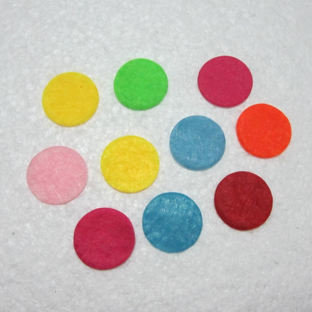 100pieces/lot mix color Padded Felt round shape craft/ DIY Appliques Clothing decoration Scrapbook -A15A(China (Mainland))