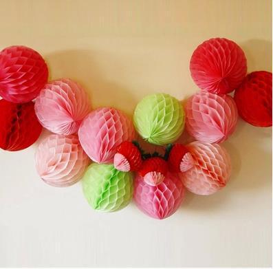 30pcs Cute 3 inch mini paper honeycomb ball colorful wedding festive decor 8cm event party supplies casamento birthday lantern(China (Mainland))