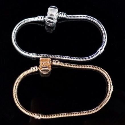 Free shipping 925 silver snake 3MM for the European DIY beads fit Pandora bracelet pendant 18CM