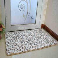 40x60cm Carpet Geometric Print Coral Fleece Doormat Non-slip Floor Mat Hallway kitchen Living Room Carpet Mats Tapis Pastoral