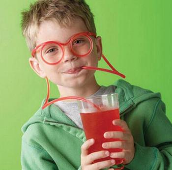 Своими руками солома дети в Creative комикс милый весело дурацкие очки солома игрушки домашнее хозяйство элементы стаканы и бокалы