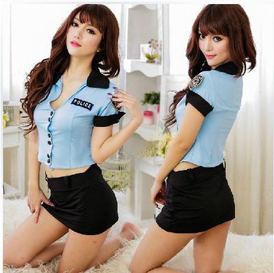 Police Set sexy stewardess uniforms temptation nightclubs DS lead dancer dark blue clothes policewoman(China (Mainland))