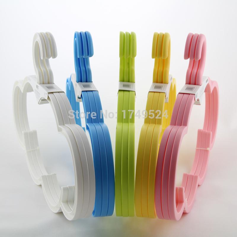 Free Shipping Wholesale 5Pcs/Lot Kids Child Children Baby Nursery Garment Coat Clothes Plastic Hook Hangers(China (Mainland))
