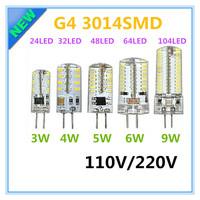 G4 110V LED Corn Lamp 3W 4W 5W 6W LED Light 3014 Corn Bulb Silicone Lamps Crystal Chandelier Lights Home Decoration Light