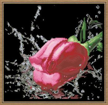 156 x 152 решетки полная вышивка бисером комплект черный фон роза перлы цветка двухсторонний вышивка бусины комплект бусины вышивки крестом